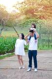 Família asiática bonita Foto de Stock Royalty Free