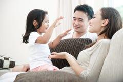 Família asiática feliz foto de stock royalty free