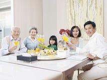 Família asiática feliz fotografia de stock