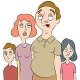 Família cansada ou furada Imagem de Stock