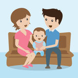 Família cartoon Foto de Stock Royalty Free