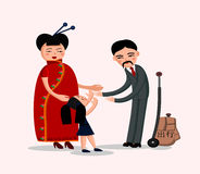 Família chinesa feliz Imagens de Stock Royalty Free