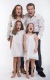 Família chocada Fotografia de Stock Royalty Free