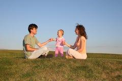 Família com bebê Imagem de Stock Royalty Free