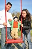Família com bebê imagem de stock