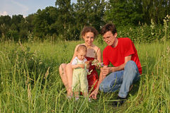 Família com bebê Fotografia de Stock Royalty Free