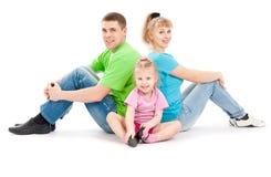 Família com filha fotografia de stock royalty free