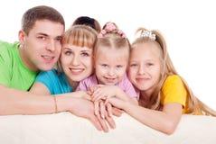 Família com filhas imagem de stock