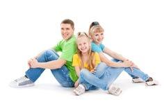 Família com filhas fotos de stock