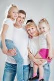 Família com filhas fotografia de stock