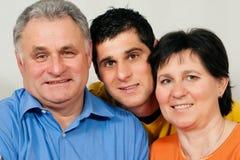 Família com filho adulto imagem de stock royalty free