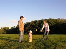 Família com jogo do bebê Fotos de Stock Royalty Free