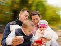 Família com móbeis foto de stock