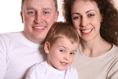 Família com menino Fotos de Stock Royalty Free