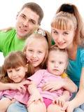 Família com três filhas foto de stock