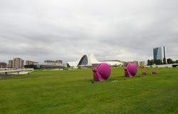 Família cor-de-rosa dos caracóis Imagem de Stock