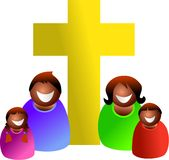 Família cristã ilustração do vetor