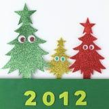 Família da árvore de Natal Imagens de Stock Royalty Free