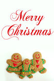 Família da cookie do pão-de-espécie do Natal isolada no fundo branco Fotografia de Stock Royalty Free