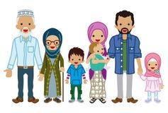 Família da Multi-geração - muçulmano ilustração stock