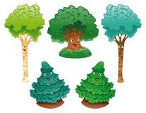 Família das árvores ilustração stock