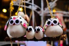 Família das bonecas da coruja fotografia de stock