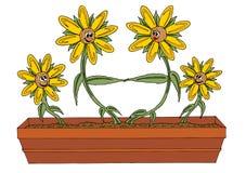 Família das flores ilustração do vetor