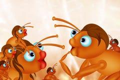 Família das formigas Fotos de Stock Royalty Free