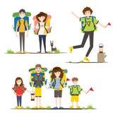 Família de acampamento Ilustração do vetor ilustração royalty free