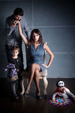 A família de Addams Imagens de Stock Royalty Free