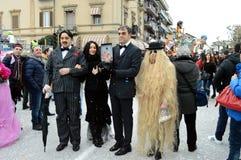 A família de Addams imagens de stock