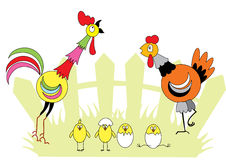 Família de Chiken ilustração stock