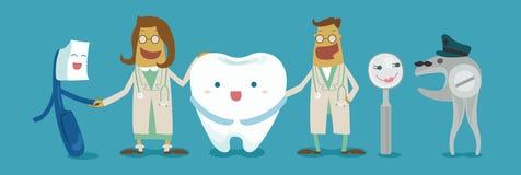 Família de dental Imagens de Stock