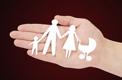 Família de papel Foto de Stock Royalty Free