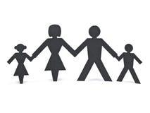 Família de papel isolada Imagens de Stock Royalty Free
