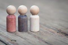 Família de Peg People de madeira Fotografia de Stock