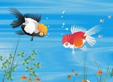 Família de peixes Ilustração Stock