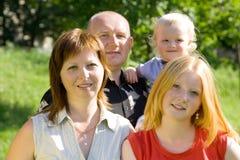 Família de quatro imagens de stock