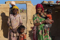 Família de Rajasthani Imagem de Stock Royalty Free