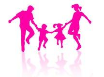 Família de salto Imagem de Stock