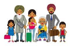 Família de viagem da Multi-geração - indiano ilustração royalty free