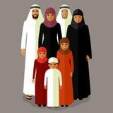 Família do árabe do vetor Imagens de Stock