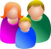Família do ícone ilustração royalty free