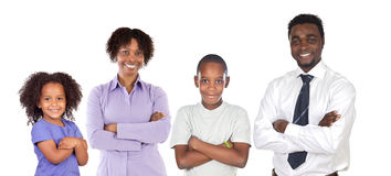 Família do African-American imagem de stock