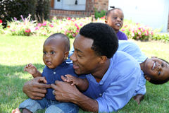 Família do americano africano Imagens de Stock