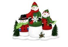 Família do boneco de neve Foto de Stock Royalty Free