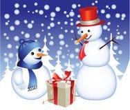 Família do boneco de neve Fotografia de Stock