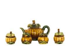 Família do bule do mangustão do vintage Imagens de Stock