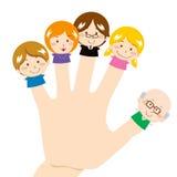 Família do dedo Imagem de Stock Royalty Free