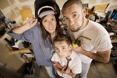 Família do Do-It-Yourself imagem de stock royalty free